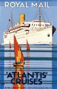 Vintage English poster - Royal Mail, Atlantis Cruises